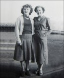 Dorothy (right) and friend - 1950