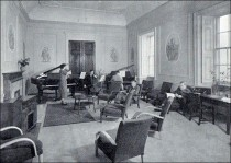 The College's first Music Lecture Room in Lord Allendale's former Breakfast Room.