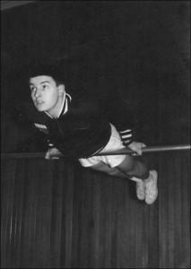 Ken Stott in the Gymnasium at Bretton Hall - 1965