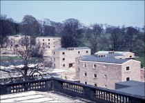 Newly-built Hostels in 1962 before occupation by students. Image provided by alumnus - Peter Bear