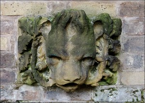 Lion's Head formerly on display in an alcove close to the Clegg Building.