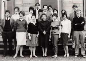 Drama Students with Miss Dunn - 1961