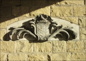 Marble Panel with a carving of the Savile Crest