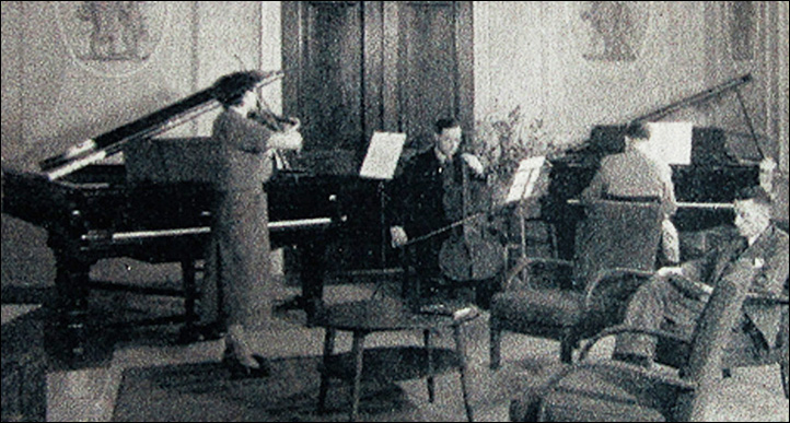 Bretton College's first Music Lecture Room in 1949