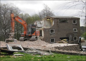Demolition of Wentworth Hostel - 2017
