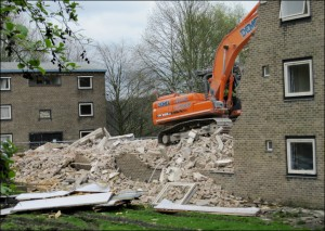 Demolition of Beaumont Hostel - 2017