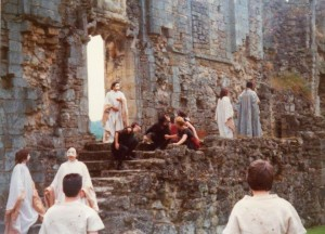 Mystery Plays DA1 at Rievaulx Abbey 1988. Photo provided by Ali Davenport.
