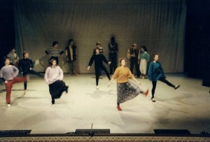 'The Rite of Spring' dance rehearsal 1988. Photo provided by Andy Talbot
