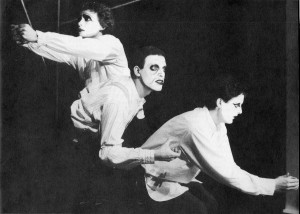 Berkoff's 'Metamorphosis' directed by Gareth Price 1979. Photo taken from Bretton Prospectus 82-83
