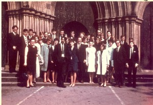 Capella Choir at Ripon, 11th June 1967. Image supplied by Elvin Young.