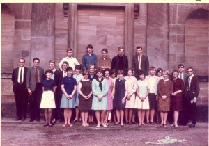 Chapel Choir 30th June 1967. Image supplied by Elvin Young.