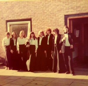 Bretton Singers ready for a concert 1978. Image supplied by Judi Sims.