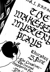 Wakefield Mystery Plays Poster. Photo provided by Andy Talbot