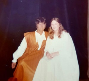 'Othello' - Othello and Desdemona' 1978. Image supplied by Judi Sims.