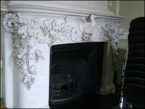 Fireplace in Former Dining Room