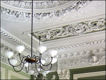 Ceiling of former Dining Room